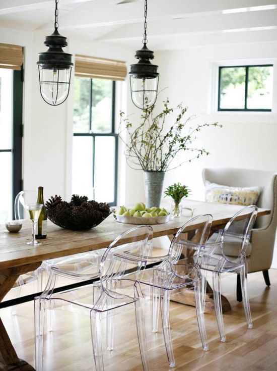 Decorating with Clear Ghost Chairs | Linzeelu Thank You