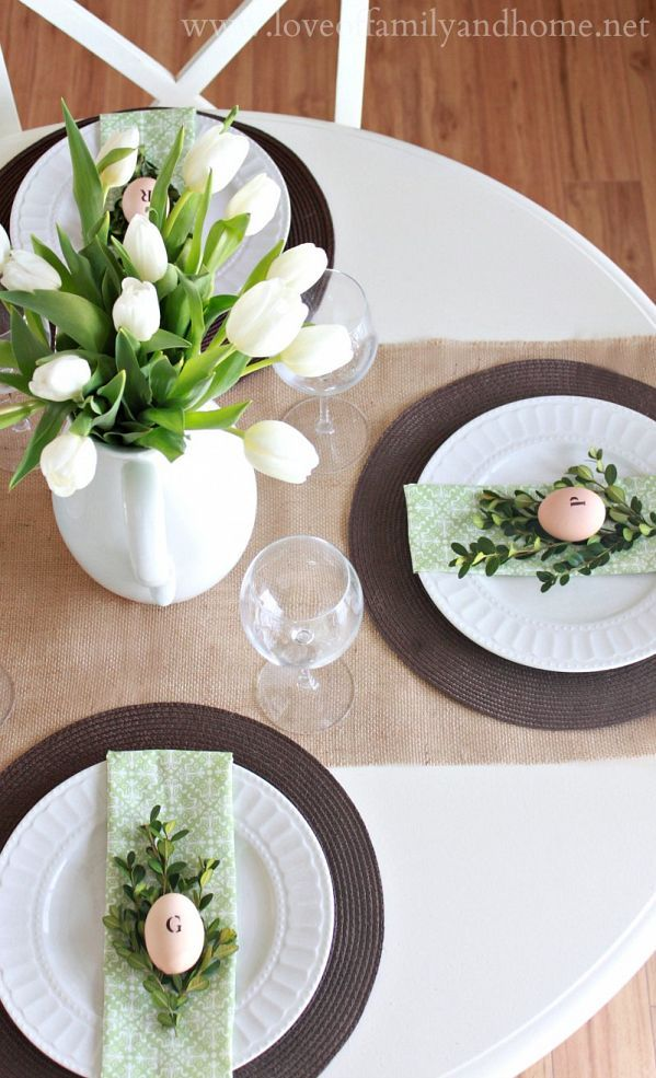 Table Top: Easter | Spring Tablescape Ideas | Linzeelu Thank You